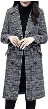 Sanyyanlsy Ladies Winter Long Sleeve Button Long Trench Slim Jacket Top Office Work Formal Lapel Overcoat Coat for Women