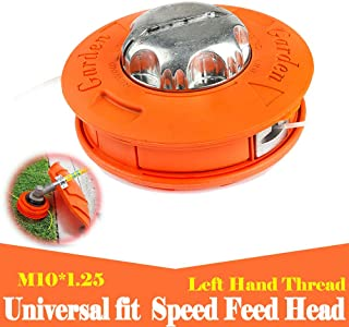 Ball's Outdoor Alloy Universal Twister Bump Feed Line Trimmer Head Whipper Brush Cutter Brushcutter, Thread Size M10x1.25 Left Hand Lawn Mower