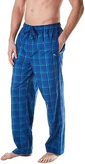 Men's Lounge Pants TB81811, Blue Plaid, Medium