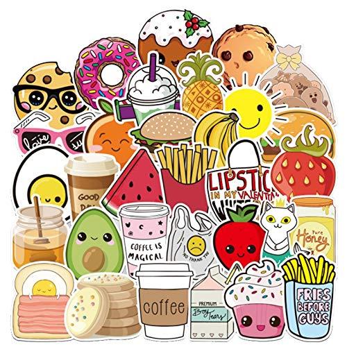 100PCS 10/30 / 50pcs Helado de Alimentos Dibujos Animados Graffiti Children Toy Casco Casco Refrigerador Laptop Equipaje Guitarra Etiqueta Etiqueta Venta al por Mayor estéticas (Color : 30PCS)