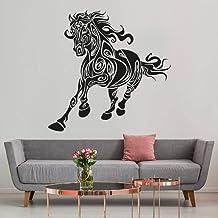 Pegatinas de caballo T-MK055 – Negro – 57 x 58 cm