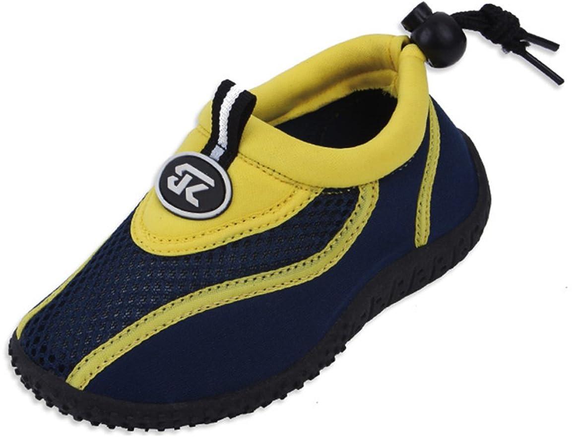Cambridge Select Kids' Quick Dry Closed Toe Slip-On Mesh Non-Slip Drawstring Water Shoe (Toddler/Little Kid/Big Kid)