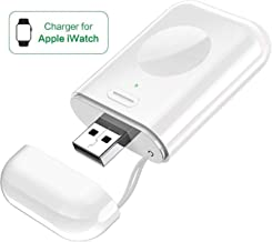 MQOUNY for Apple Watch Wireless Charger,Portable iWatch Charger Magnetic Wireless Charger 1000mAh Pocket Power Bank Compatible for Apple Watch Series 4 3 2 1 5 44mm 40mm 42mm 38mm (White)