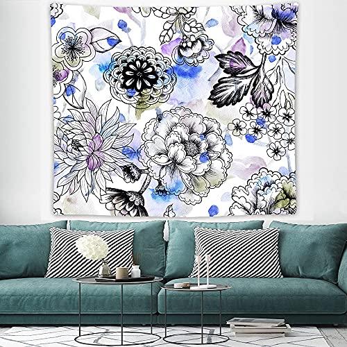 PPOU Tapiz de Pared de Flores Florales Tapiz estético Tapiz Colgante de Pared para Dormitorio decoración de la Pared de la Sala de Estar A6 180x200cm