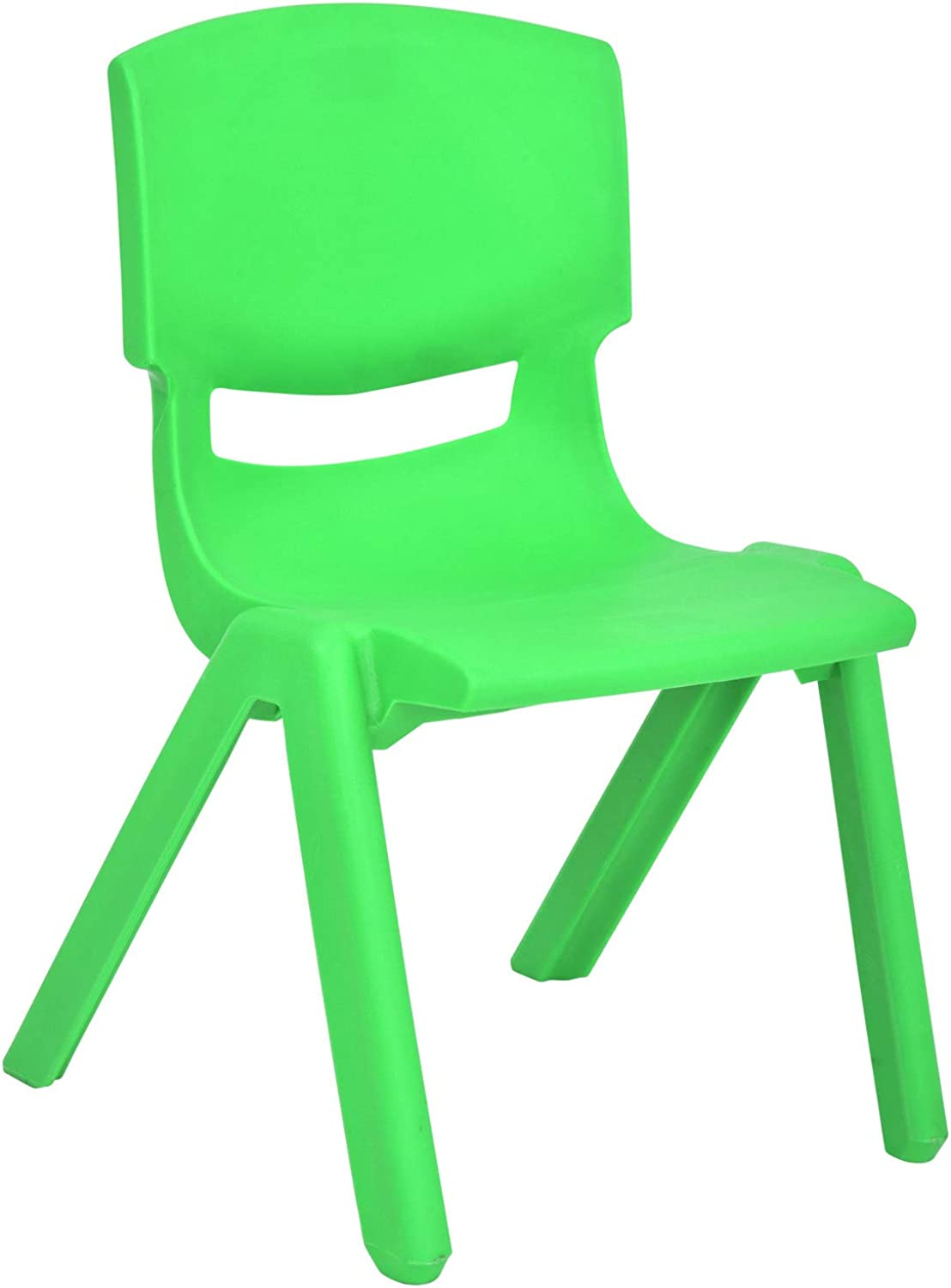 JOON Stackable Plastic Kids Learning Chairs, Green, 20.8x12.5 Inches