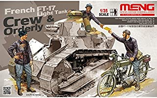 Meng HS-005 1:35 Scale French FT-17 Light Tank Crew and Orderly Model