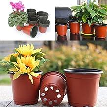 Bluelanss Seed Pots, 10 Pcs Seedling Pots Plastic Plant Flower Pots Succulent Nursery Pots 9 cm Seed Tray Perfect for Gardener 10pcs