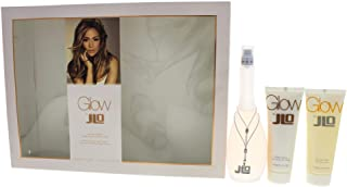 JENNIFER LOPEZ Glow 3 Pc Gift Set for Women, Perfume 100 ml + Shower Gel 75 ml + Body Lotion 75 ml