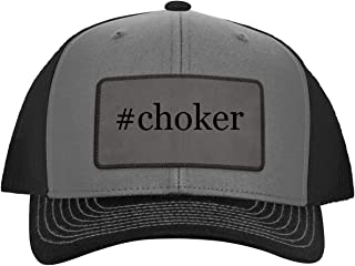 One Legging it Around #Choker - Hashtag Leather Grey Patch Engraved Trucker Hat