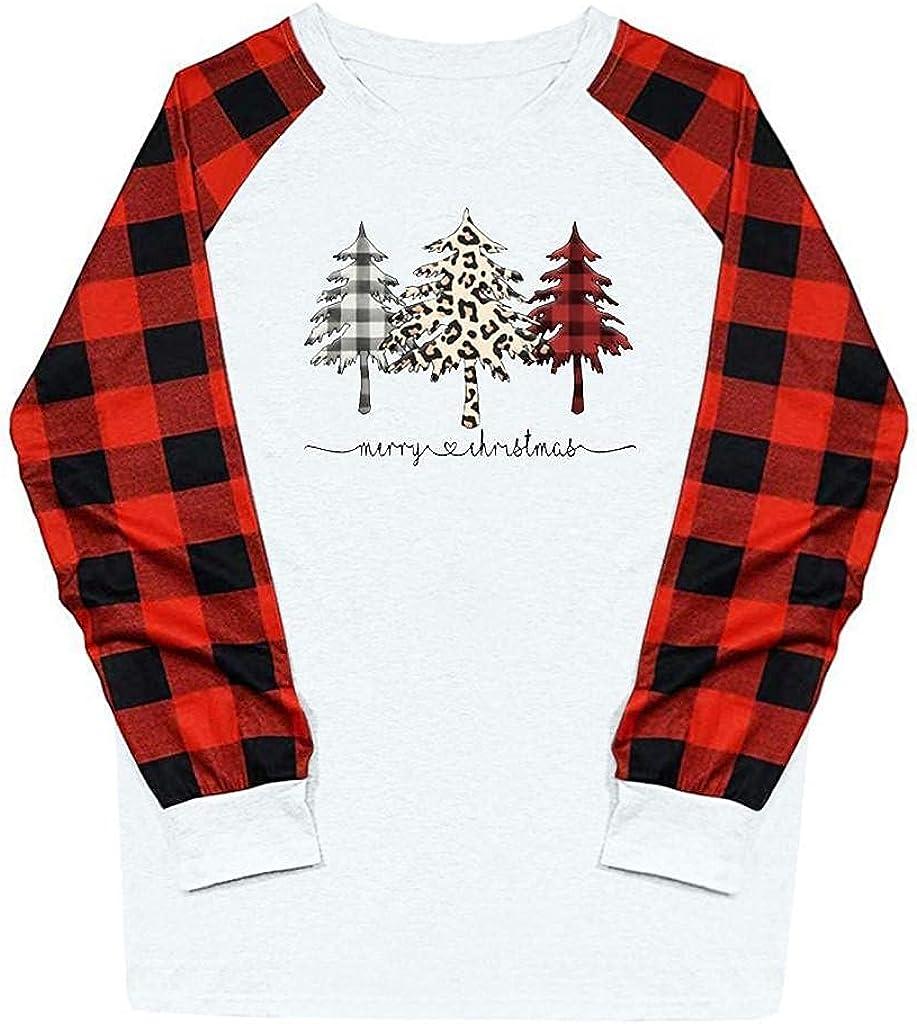 Aiouios Christmas Shirt for Women Max 59% OFF Lightweight OFFicial shop Color Womens Bloc
