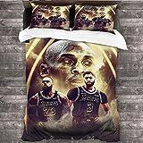 DRAGON VINES Ropa de cama de cuatro piezas Cuatro juegos de ropa de cama serie An-thony-Davis-and-LeB-ron-Jame-s-Black-Mamba-jerseys más cómodos W85 xL85