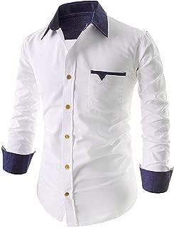 ONCHU Men's Cotton Casual Shirt for Men Full Sleeves