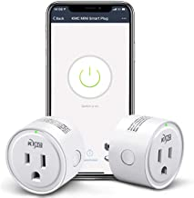 KMC Smart Plug,WiFi Mini Outlet 2 Pack, Compatible with Alexa, Google Assistant and IFTTT, Compatible with Smart Life APP, No Hub Required, Remote Control Your Devices from Anywhere, ETL Listed
