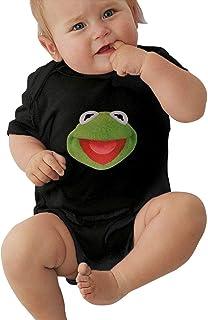 WlQshop Unisex-Baby Kurzarm Body, Kermit The Frog Face Unisex Baby Jersey Bodysuit Cute Short Sleeve T-Shirt