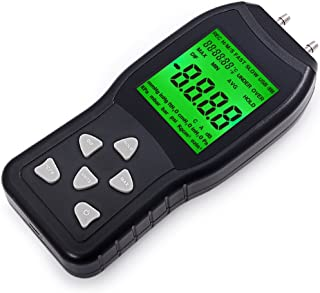FOSHIO FT168 Digital Manometer Air Pressure Meter HVAC Gas Pressure Tester with Large LCD Display