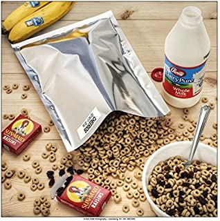 "1 Gallon Genuine Mylar Bags 10"" x 14"" for Long Term Storage of Food, Organics or Pharma (50)"
