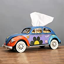 SMEJS Vintage Auto Tissue Houder Retro Tissue Doos Servet Lade Tafel Ornamenten Woonkamer Decoratie Ambachten Kinderen Spe...