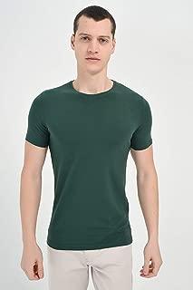 Basic Dinamik Fit Sıfır Yaka T-Shirt Haki