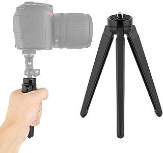 AORO 三脚 ミニ・卓上 ビデオカメラ、スマホ、一眼レフ、iphoneに対応 アルミ製 頑丈 軽量 コンパクト 小型 携帯便利 アウトドアと旅行撮影にも適用 ブラック〔メーカー直営・1年保証付き〕