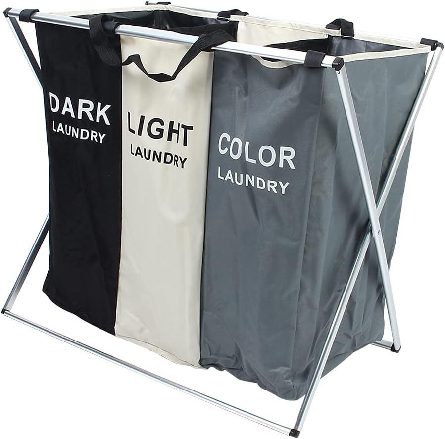 XQAQX Laundry Bin Ranking TOP2 Many popular brands Bag Basket Compartment Three