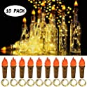 10-Pack Seenlast Torch Wine Bottle Lights
