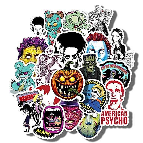 Kimlosk Set Carolinee Full Swag Halloween Vintage Retro Fan Arts Best Gift Ideas 20pcs Vinyl Stickers for Laptops Cars Bottles Books Luggages