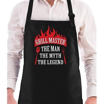 Parrillero máster el hombre el mito la leyenda da Griller Idea de regalo del Padre y/birthda y regalo para da D, granda D o madre divertido BBQ delantal del cocinero