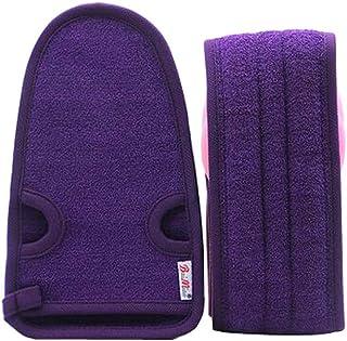 2 Of Practical Soft Bath Gloves Exfoliating Bath Belts for Male, PURPLE