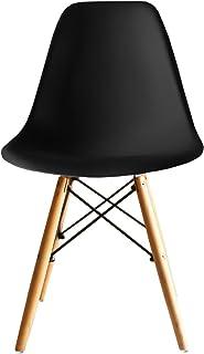 イームズチェア ダイニングチェア オフィスチェア デスクチェア Eames DSW 椅子 テーブル(ブラック,1脚)