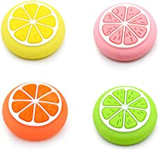 Fruit Design Thumb Grip Caps, Joystick Cap for Nintendo Switch & Lite Animal Crossing, Soft Silicone case for Joy-Con Controller(4 Colors)