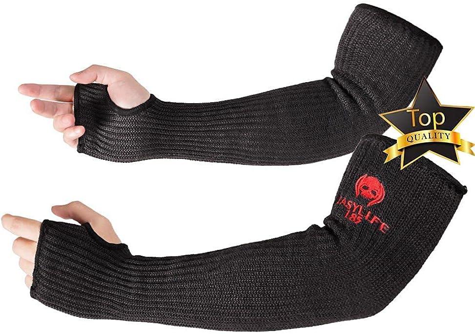 Kevlar-Sleeves Atlanta Mall Arm Protection Sleeves with Thumb Award MOKEYDOU Hole