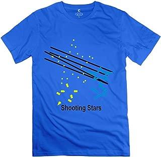 Mens Shooting Stars T-Shirts - Hot Custom Purple T-Shirt
