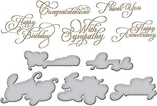Spellbinders Elegant Occasion Sentiments by Becca Feeken Glimmer Hot Foil Plate, Metal