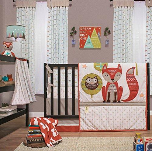 Clever Fox 4 pièces Parure de lit de lit bébé par Little Haven par Little Haven