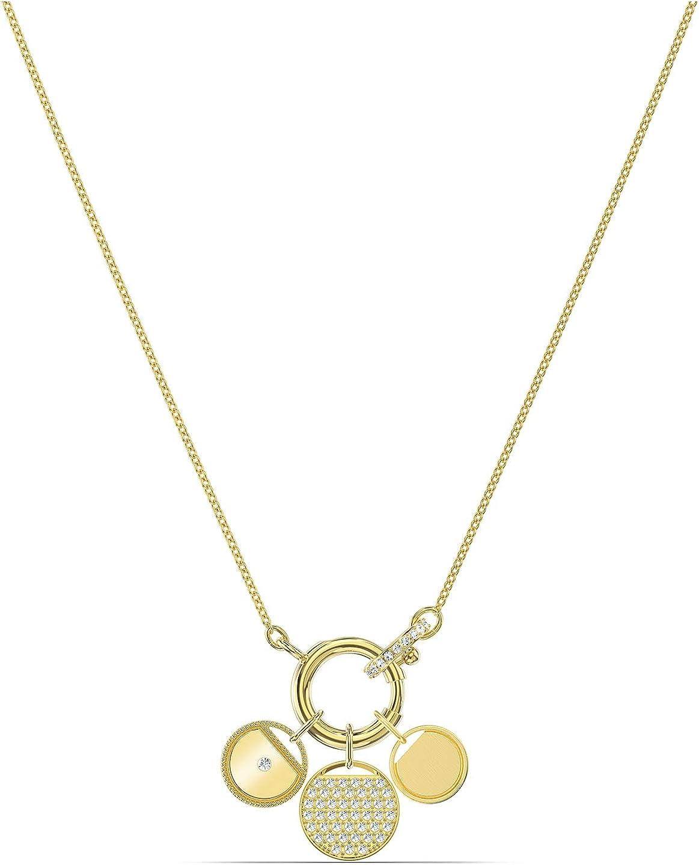 Amazon.com: SWAROVSKI Ginger Charm Necklace Gold One Size: Jewelry