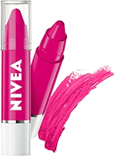 NIVEA Lip Crayon, Coloron Hot Pink, Lip Balm, 3g