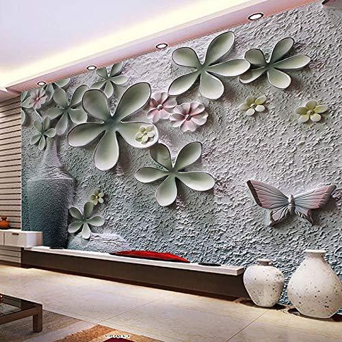 Wandbilder Moderne WanddekoCustom Photo Wallpaper 3D Embossed Vase Floral Backdrop Decorative Wall Painting Living Room Sofa TV Backdrop Home Decor Mural
