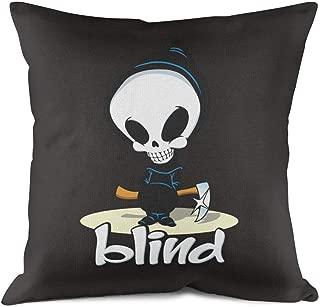 Heart Wolf Blind-Skateboards-Logo- Throw Pillowcase 18