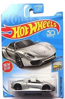 Hot Wheels 2018 50th Anniversary Factory Fresh Porsche 918 Spyder 184/365, Silver