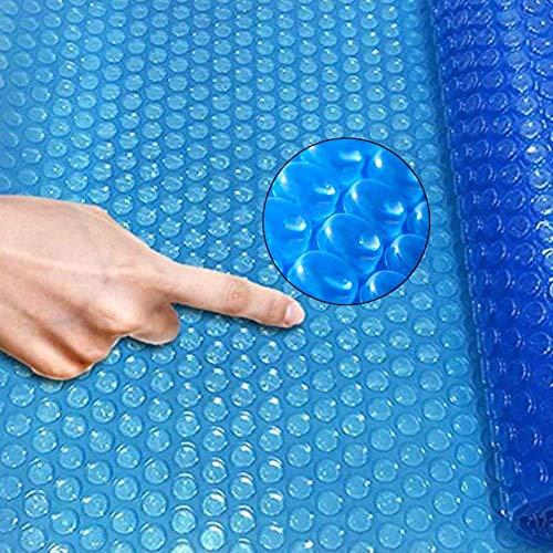 DGDG Verano en el Suelo Piscina Cubierta, Burbuja Grande Manta Solar Cubierta for Bañera de hidromasaje y Frame Piscinas inflables, Azul, 400 G / M2 (Size : 6×6m/19.6×19.6ft)