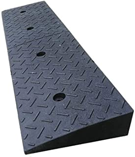 Truck Ramps, Factory Loading and Unloading Goods Vehicle Ramps Firm Durable Service Ramps Black Rubber Triangle Pad 10CM (...