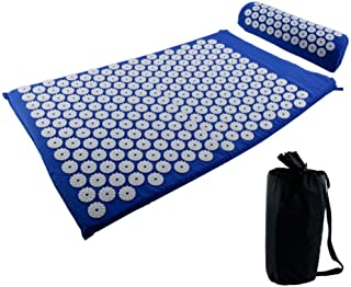 Acupoint Acupressure Sets, Massager Cushion Mat with Pillow, Acupuncture Trigger Point for Back and Neck Pain Sciatic Pai...