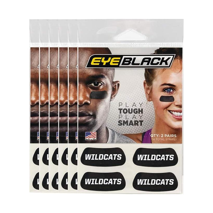 Wildcats Team Name Eye Black (24 Strips)