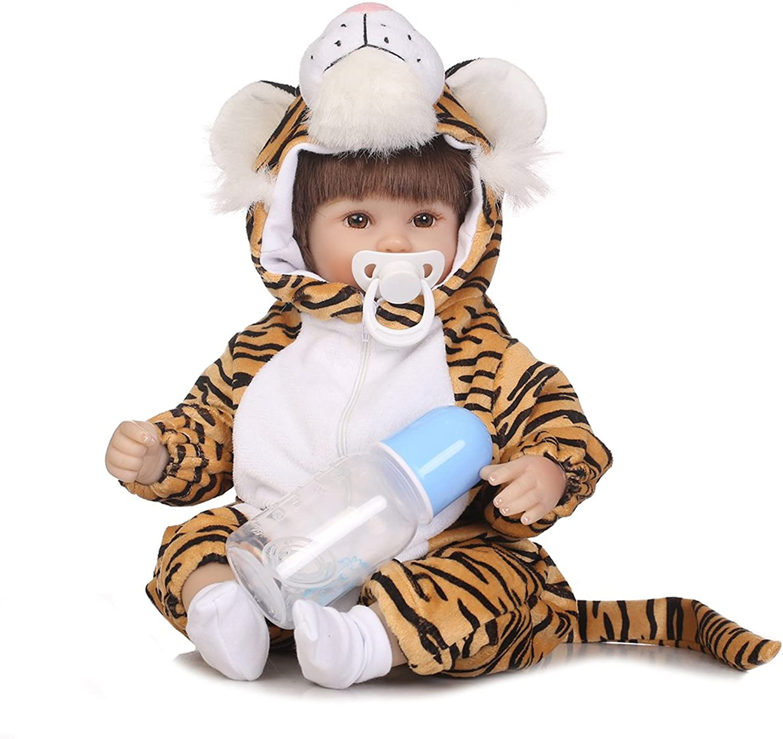 Luerme Brand New Little Tiger Lifelike Simulated Company Reborn Doll