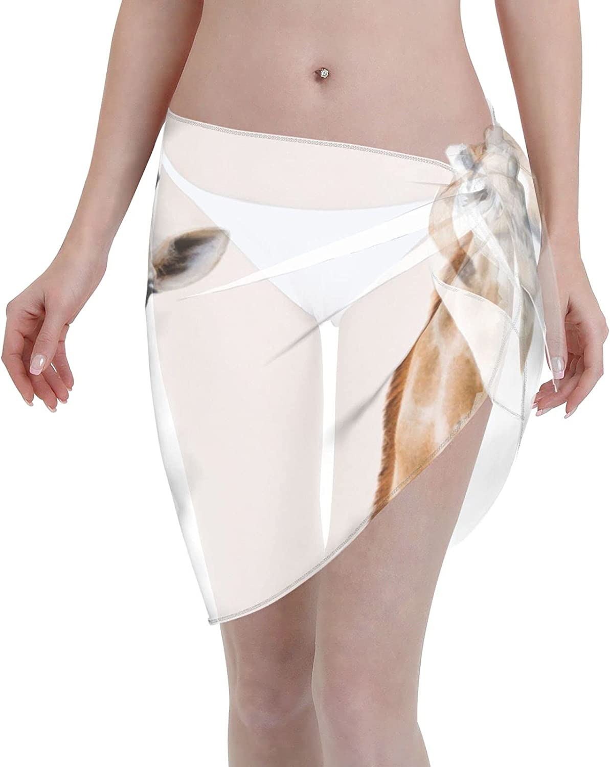 OcuteO Abstract Art Creation from Cyprus Red and White Swirl Womens Swimsuit Coverup