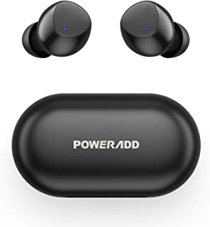 POWERADD S10 Auriculares Inalámbricos Bluetooth 5.0 con Micrófono, Auriculares Bluetooth Deportivos HiFi Estéreo IPX8 Impe...