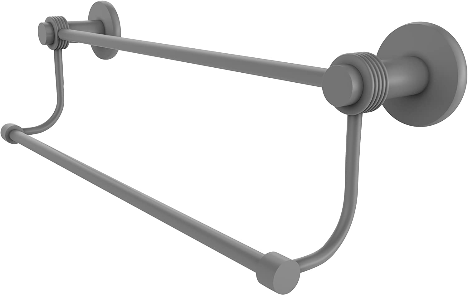 Allied Brass Mercury Collection 24 Inch Double Towel Bar with Groovy Accents, 9072G 24-GYM