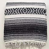 Mexicano falsa Manta/alfombra, 6colores Mano tejidas reciclado hilo de meditación para yoga Camping Picnic Festival, gris