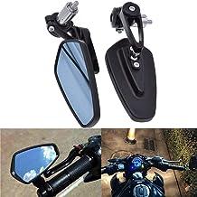 ViZe 7/8'' 22mm Retrovisores Moto Manillar Espejo Laterales Trasera Universal Motivo Negro-azul