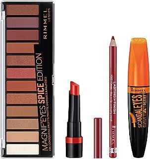 Rimmel Spice Makeup Kit With Eyeshadow, Mascara, Lipstick, And Lip Liner, 6 Fl Oz